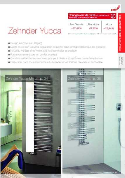 zehnder yucca asym zehnder group en france. Black Bedroom Furniture Sets. Home Design Ideas