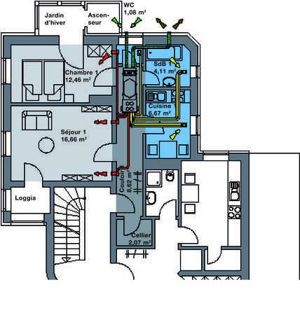 la ventilation double flux en r novation zehnder group. Black Bedroom Furniture Sets. Home Design Ideas